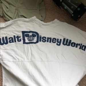 Authentic white and blue Disney spirit jersey